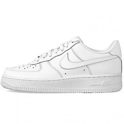 Nike Air Force 1 Gs Big Kids 314192 117 All White Shoes
