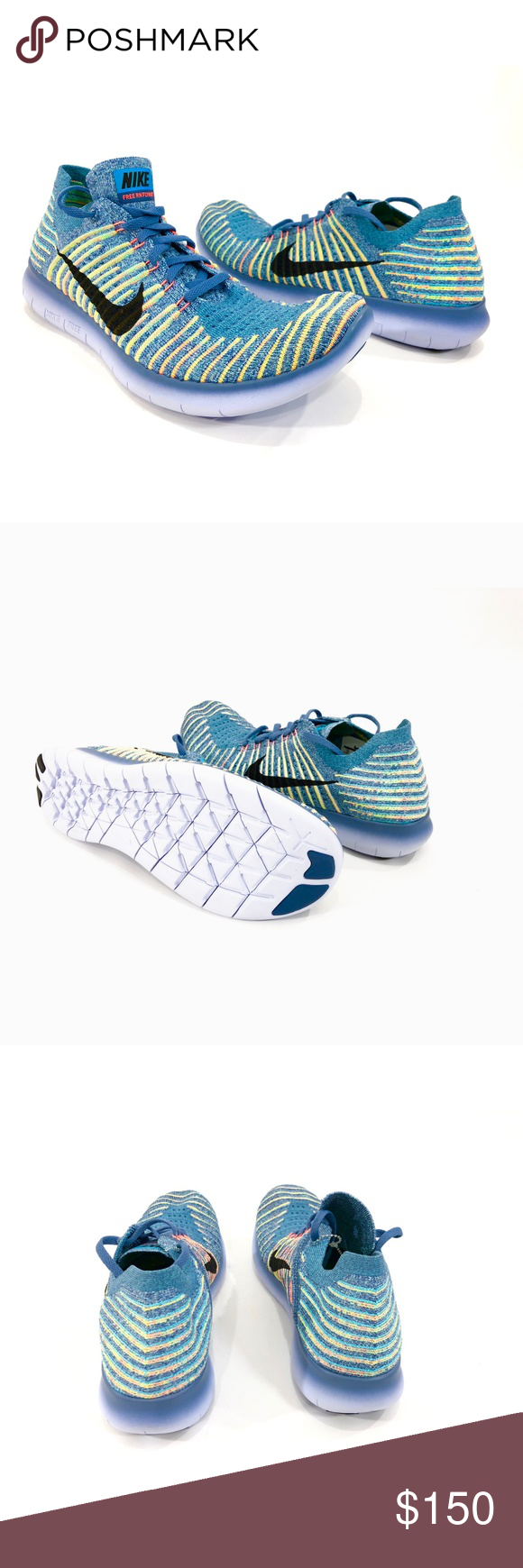 Nike Free RN Flyknit Womens Trainning Running Shoe NIKE 831070-405 Nike  Free RN Flyknit Women s running shoes Size 12 Multi-Color Low top New  without box ... 1d71914b50