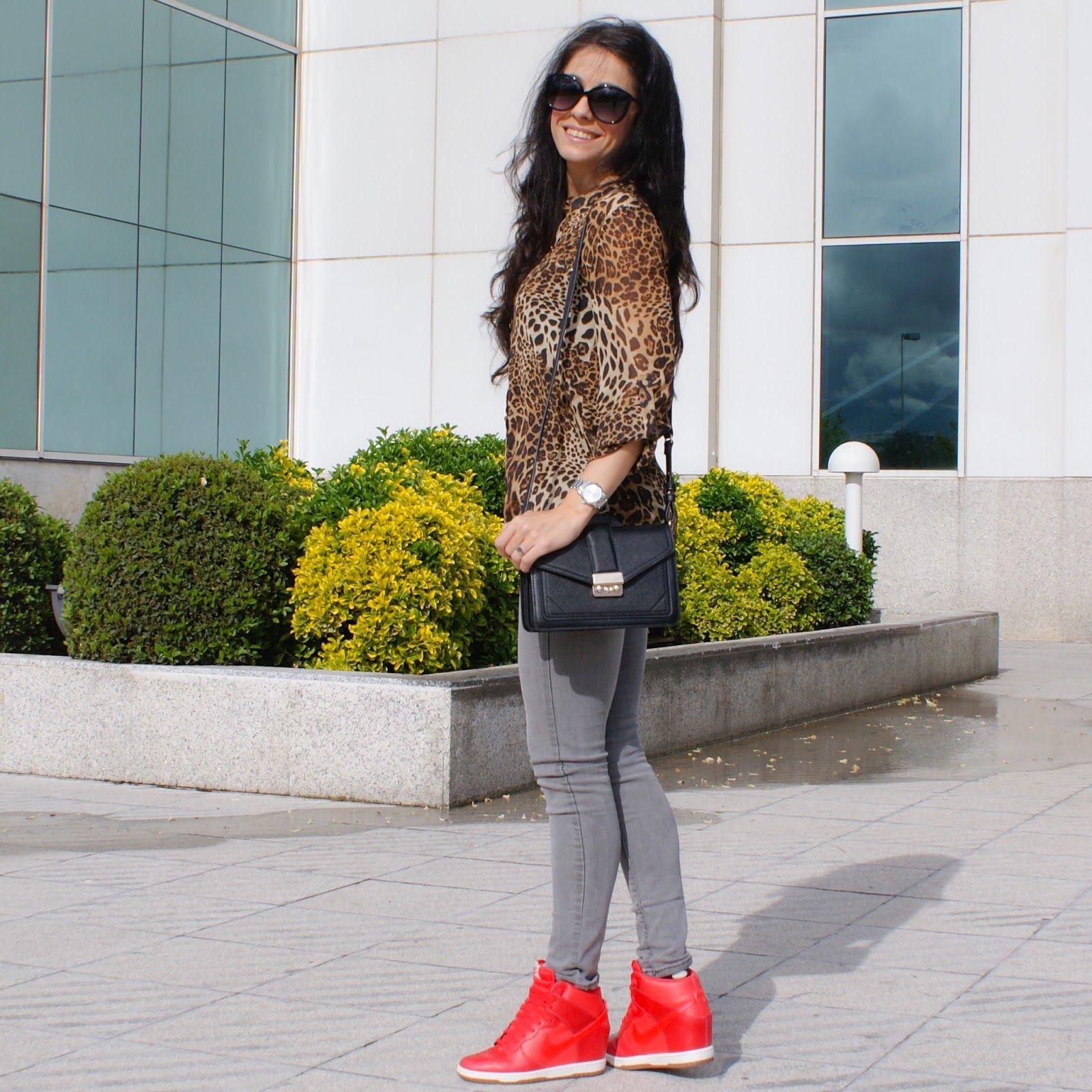 2dcfb841b Blog Moda, Look con Zapatillas NIKE Rojas #kissmylook | Vanessa