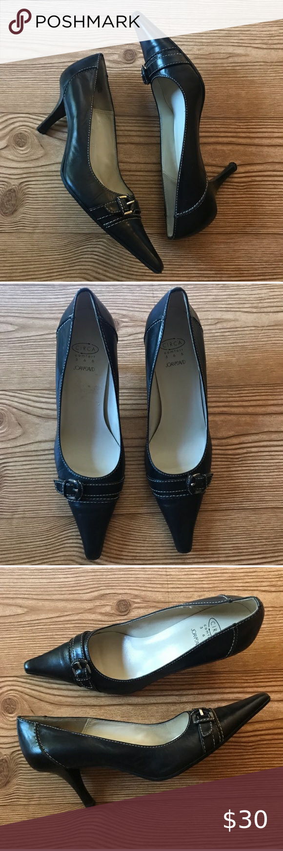 Joan David Destiny Black Leather Pointy Toe Pump In 2020 Pointy Toe Pumps Shoes Women Heels Joan And David Shoes