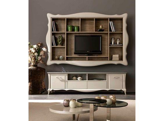 Mueble modular de pared montaje pared con soporte para tv ALICE