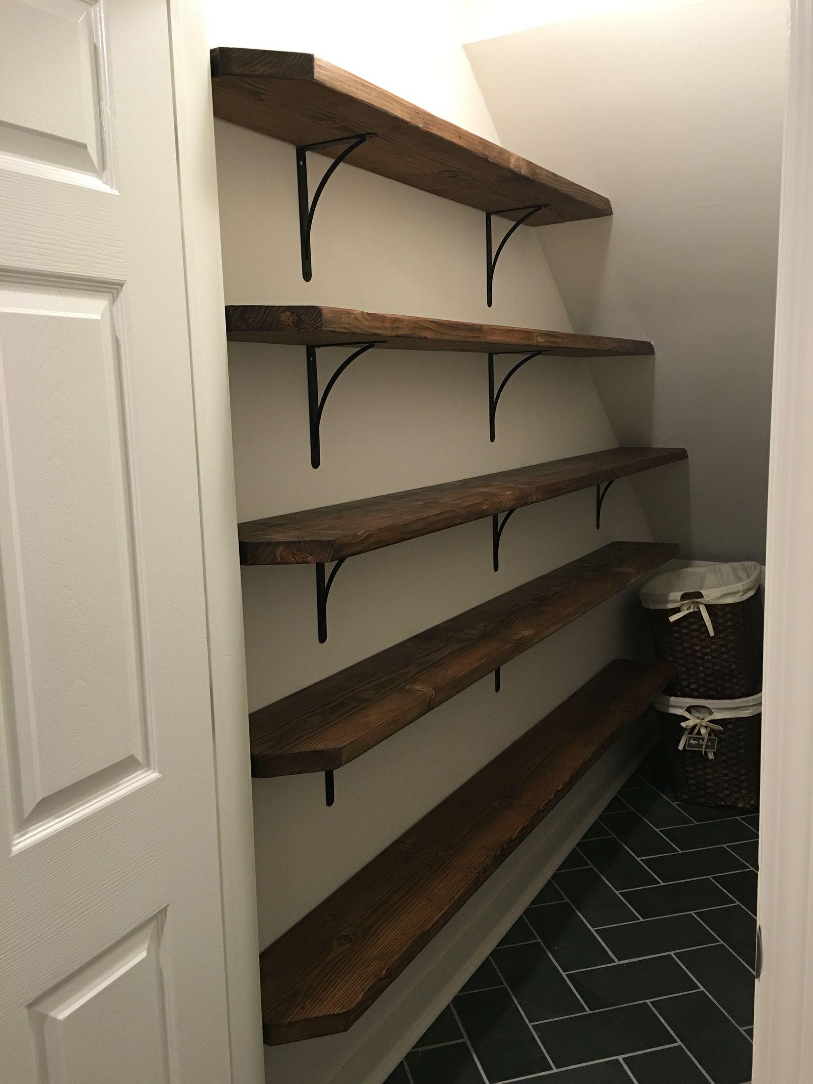 Pantry storage under stair closet.  Closet under stairs, Under
