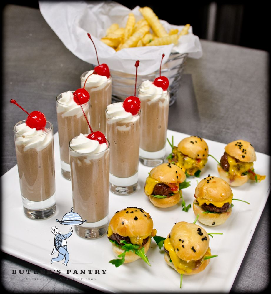 Evening Wedding Reception Food Ideas: Try Serving Mini Milkshakes And Cheeseburgers For A 'late