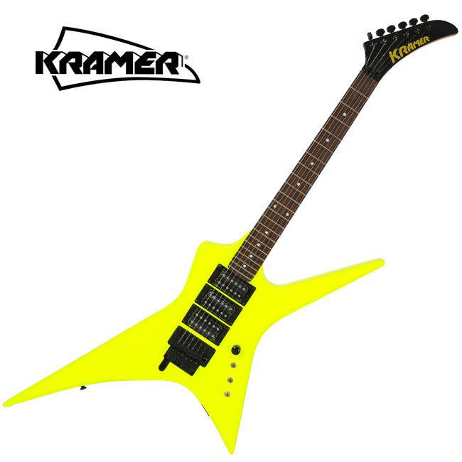 Kramer Voyager Rare Nuclear Yellow Electric Guitar Unique