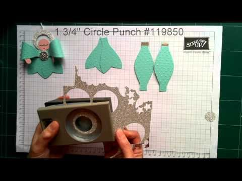 Stampin' Up! Angel Christmas Tree Ornament using The Gift Bow Bigz Die from Stampin' Up! - YouTube