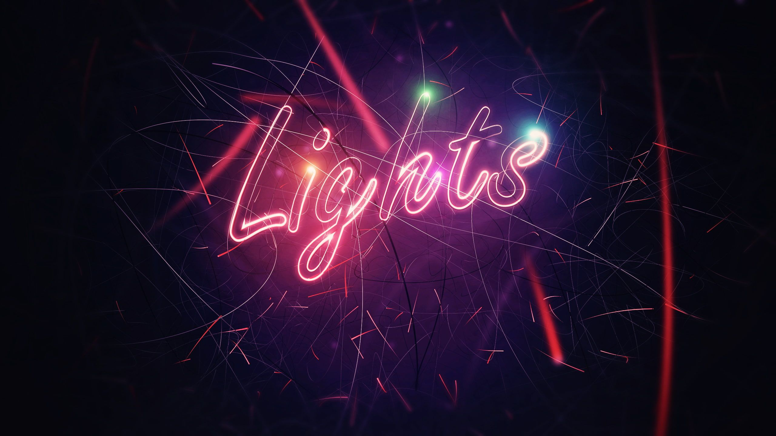 Neon Lights Digital Art Typography 2k Wallpaper Hdwallpaper Desktop Neon Light Wallpaper Wallpaper Pictures Lit Wallpaper