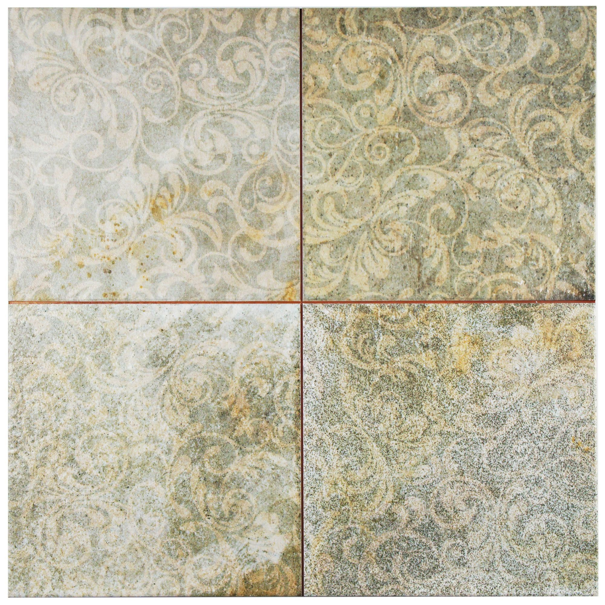 Royalty 1775 X 1775 Ceramic Field Tile In Beigebluepatina