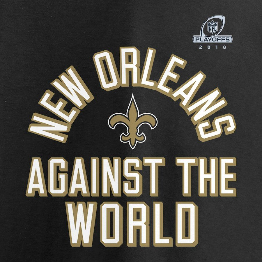731d9536f New Orleans Saints NFL Pro Line by Fanatics Branded 2018 NFL Playoffs Bound  Against The World Long Sleeve T-Shirt – Black