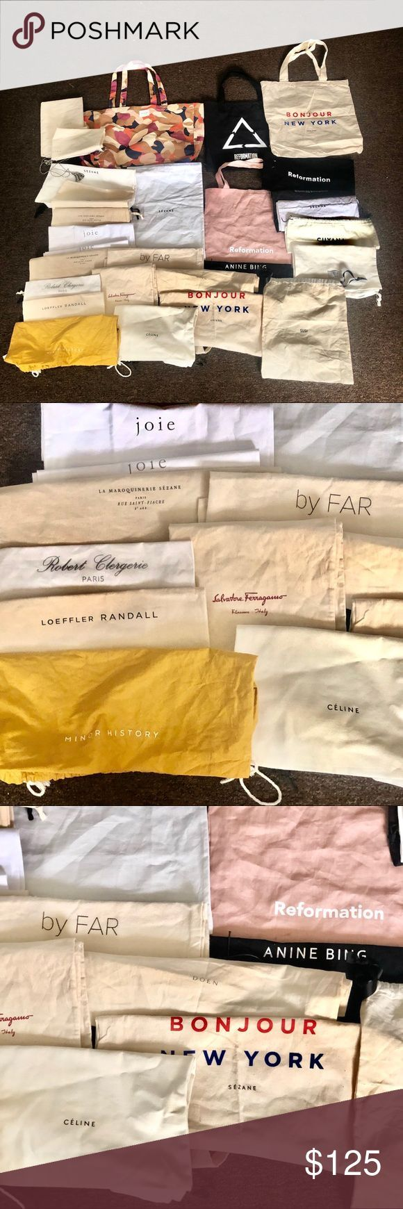 Huge Lot of 28 Tote & Dust Bags Reformation Sezane Huge Lot of Tote & Dust Bags