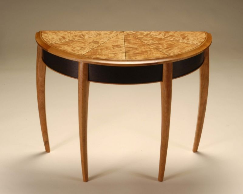 Demilune Table In Figured Cherry And Wenge By Neil Barrett Demilune Table Table Wood