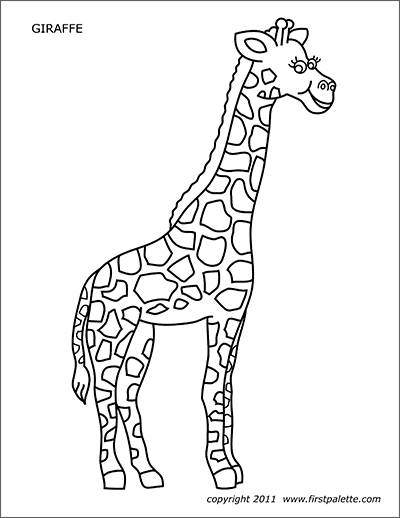 Animal Printables Page 2 Free Printable Templates Coloring Pages Firstpalette Com Zoo Animal Coloring Pages Animal Printables Giraffe Coloring Pages