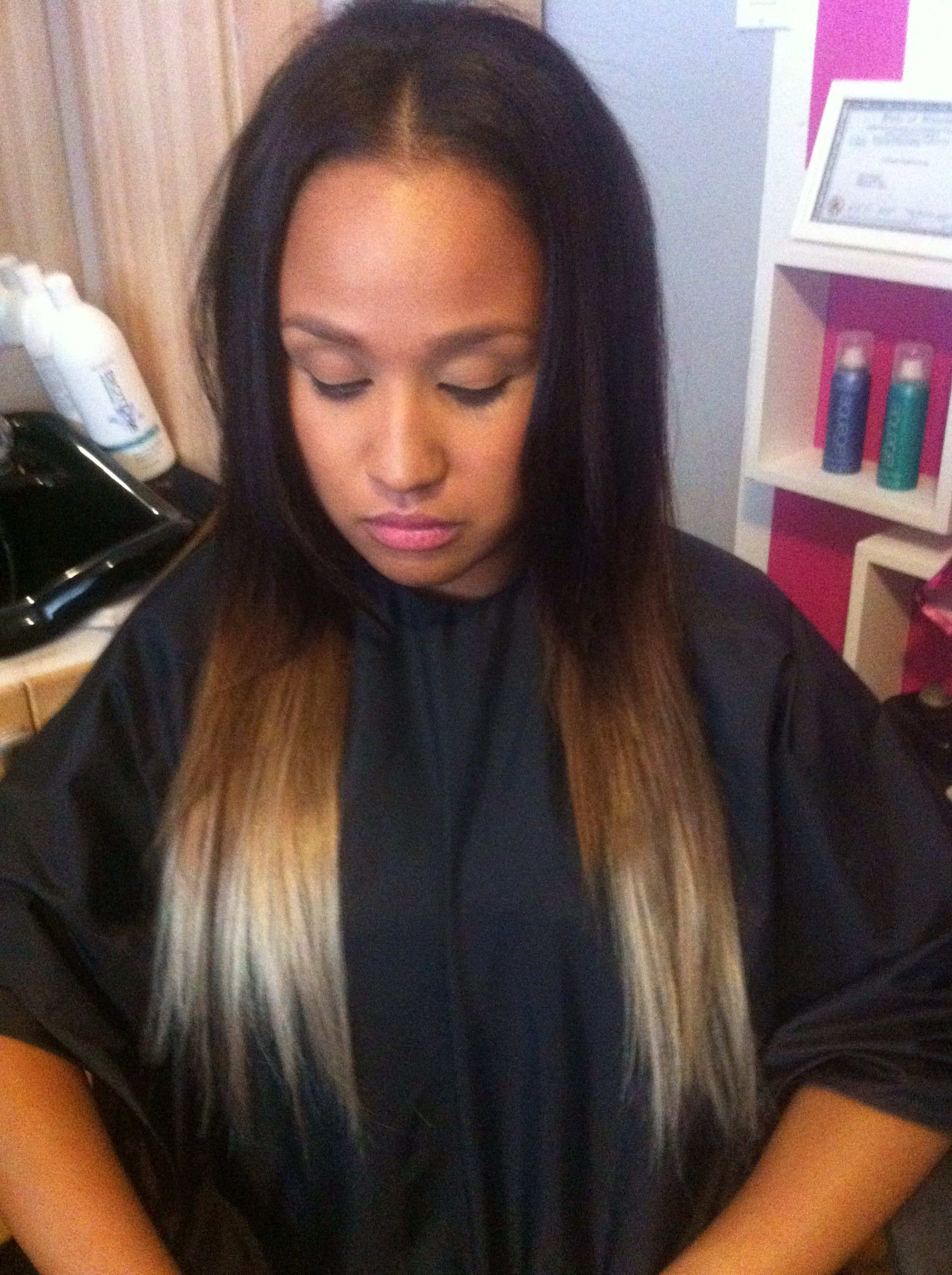 dark to platinum with caramel in between | Luscious Locks ...