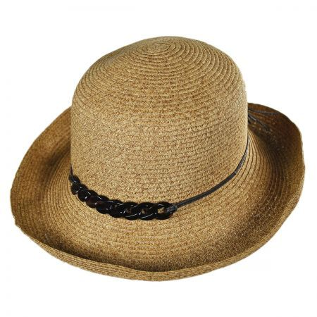 available at  VillageHatShop San Diego Hat Co Shell Chain Kettle Brim Sun  Hat. 9b4bafe38f6