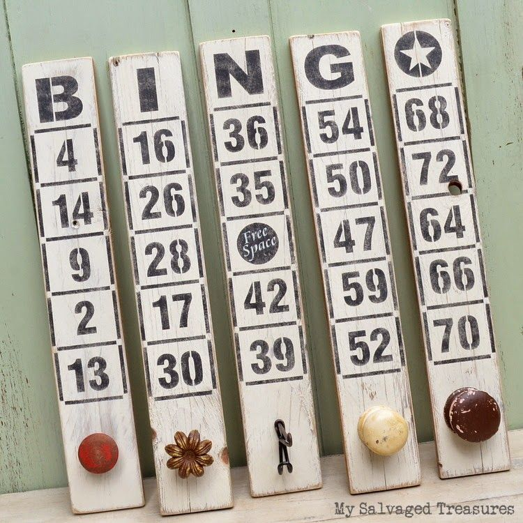 How to's : Stenciled Bingo boards