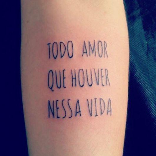 Exemplo De Frases Para Tatuagem De Amor Tattoo Frases Tatuagem