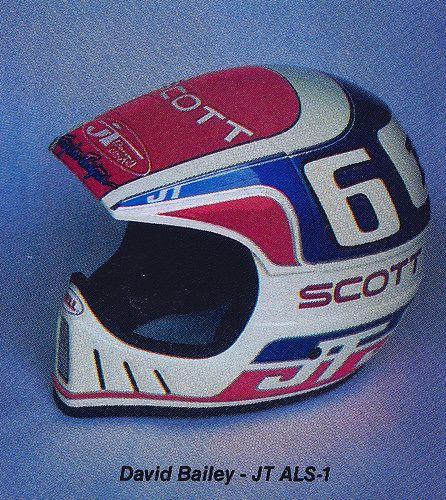 1986 Jt Racing Als 1 Of David Bailey Vintage Helmet Vintage Motocross Yamaha Motocross