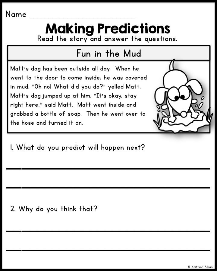 Reading Comprehension - Making Predictions Passages | Wonderful ...