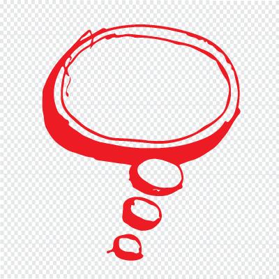 Speech Bubble Hand Drawn Illustration Symbol Design