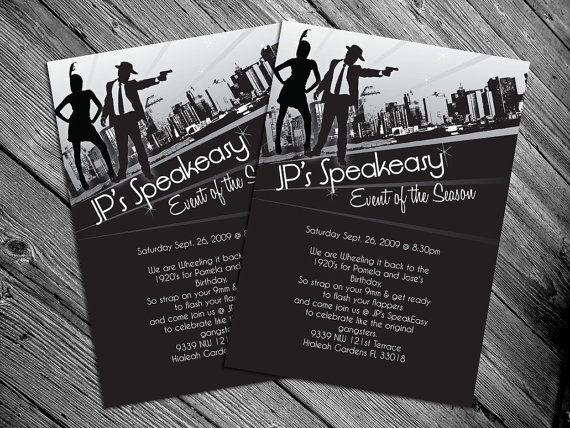 1920s or 1940s themed Party Invitation Print by MrsInvitation ...