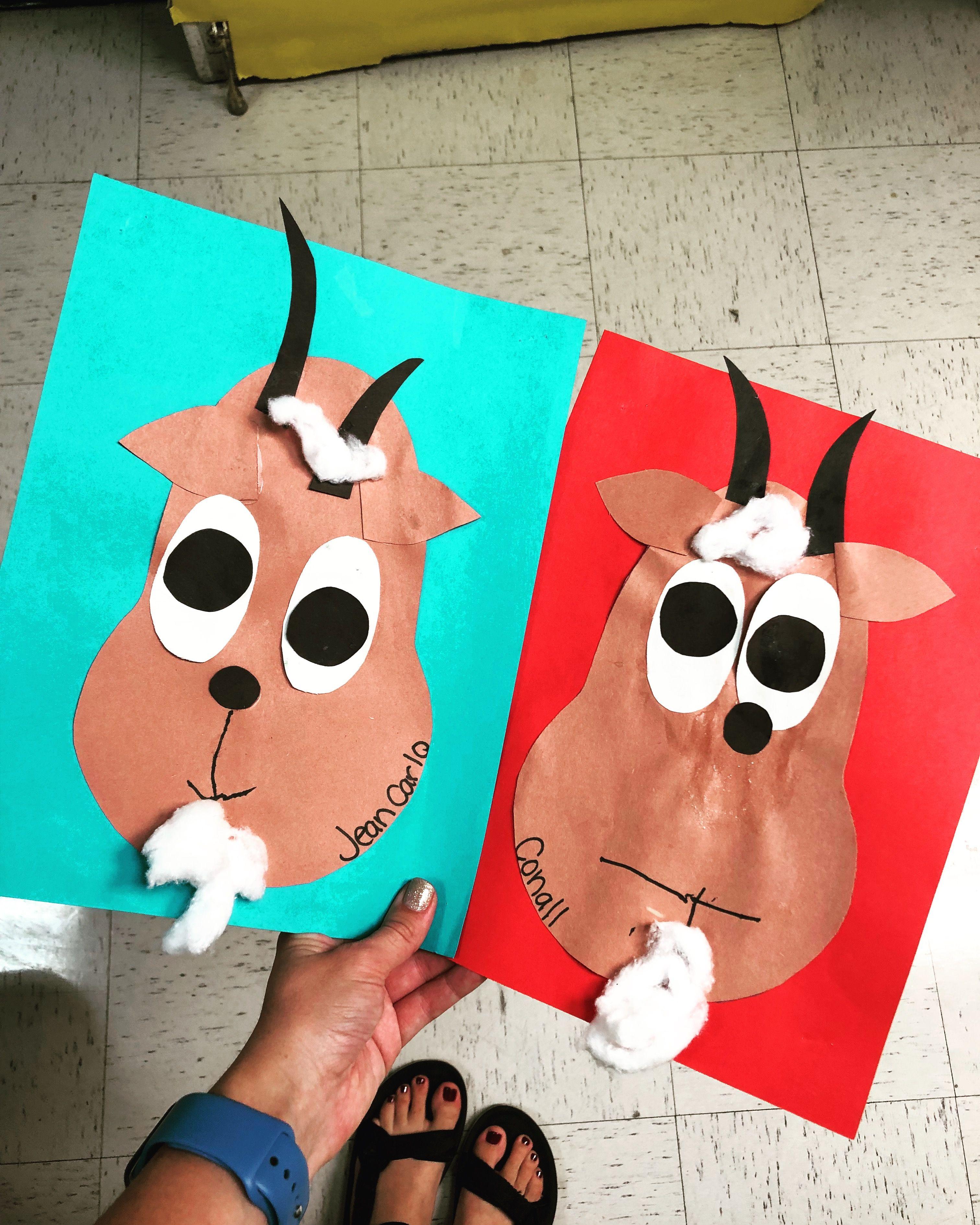 Billy Goat Preschool Craft Farm Theme Preschool Craft