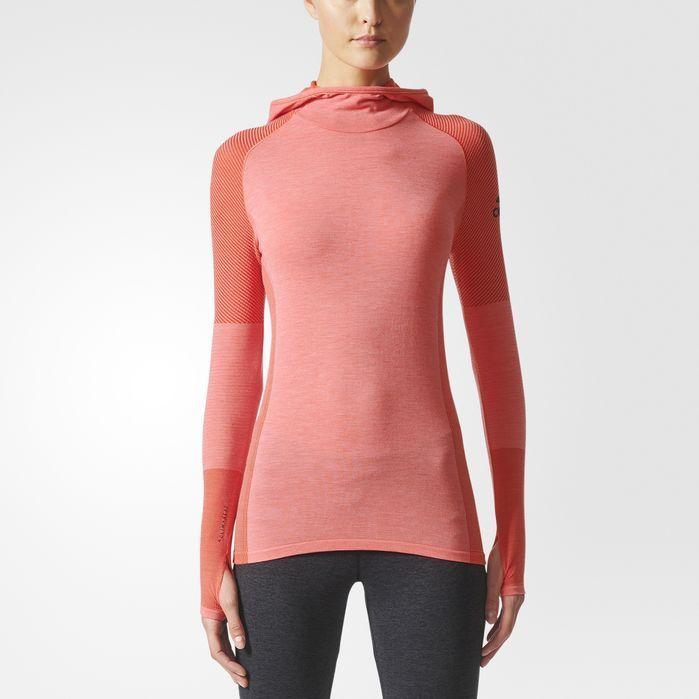 16d3b7fe16 adidas Climaheat Primeknit Hooded Tee - Womens Running Long Sleeve ...