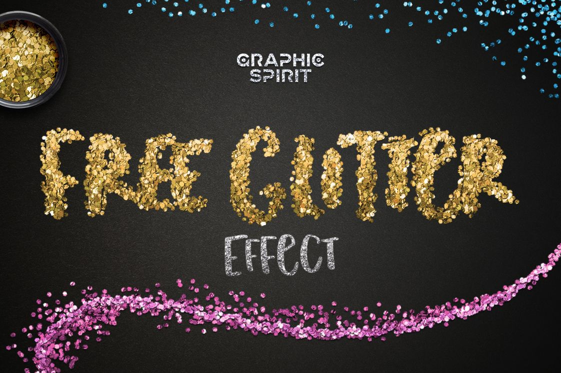 Download Photoshop Realistic Glitter Effect Free | Free