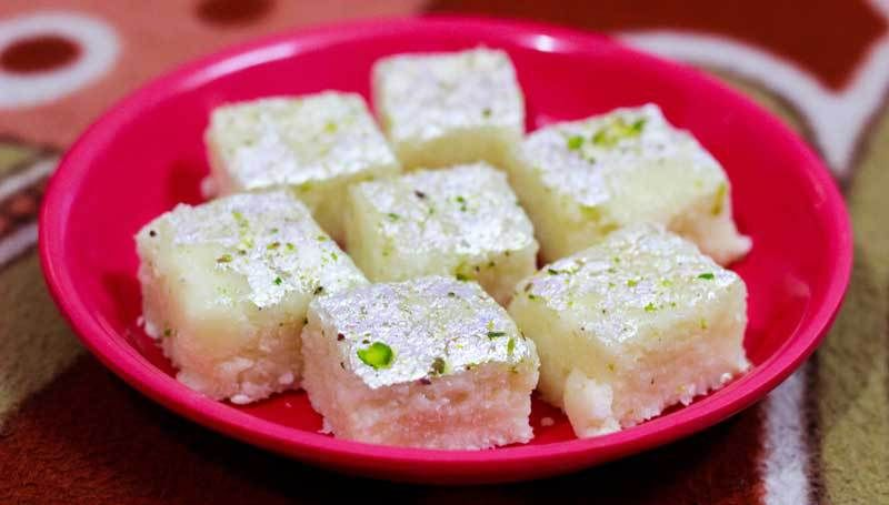 Coconut Barfi Recipe With Images Coconut Barfi Recipe Recipes Coconut Burfi