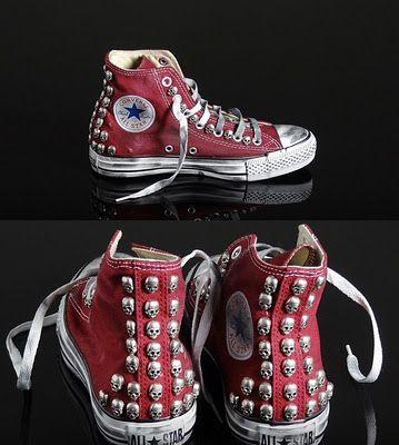 Múltiple soporte Controlar  Tachuelas de calaberas para las converse o para cualquier otra prenda. Me  mola!! | Diy shoes, Sneakers, Nice shoes