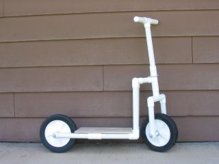 Fun pvc scooter pvc pipe crafts pinterest scooters for Pvc pipe craft projects