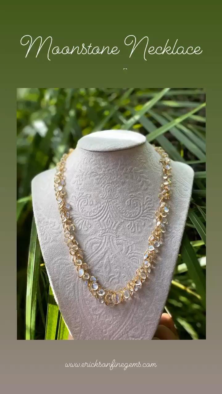 www.ericksonfinegems.com #moonstone #moonstonejewelry #moonstonenecklace #jewelry #luxuryjewelry #fashion