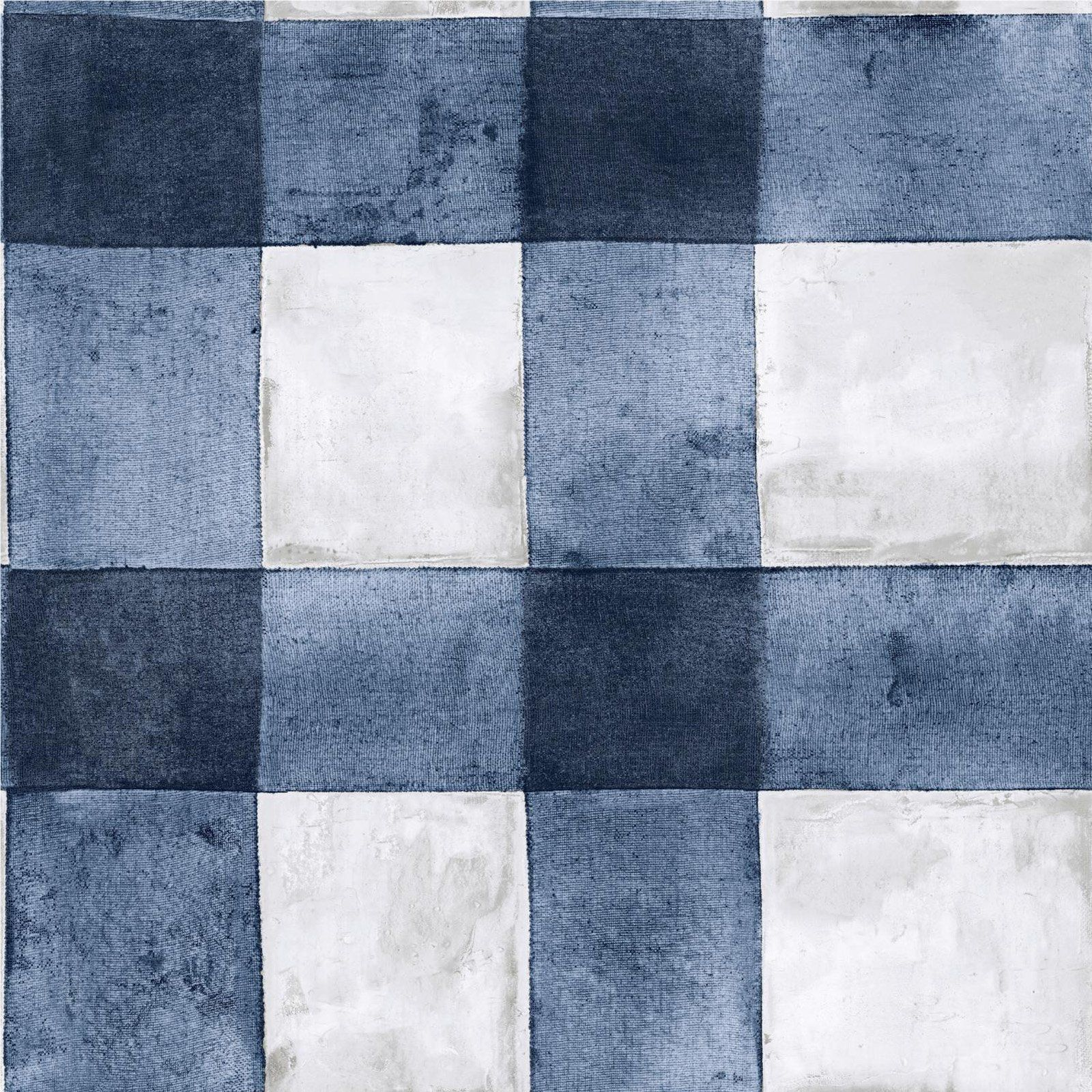 Roommates Buffalo Plaid Self Adhesive Wallpaper Blue In 2020 Peel And Stick Wallpaper Luxury Vinyl Luxury Vinyl Tile