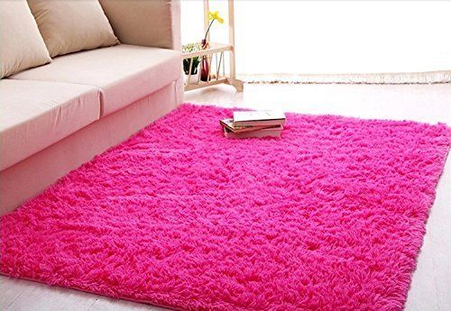 Ultra Soft 4 5 Cm Thick Indoor Morden Shaggy Area Rugs Pads New