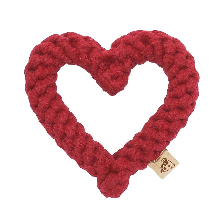 Jax and Bones Heart Toy Red by Petswag