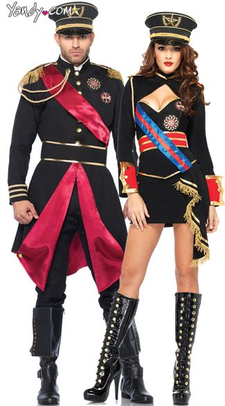 2e34574e02653 Sexy Halloween Costumes for Women, 2019 Adult Halloween Costume Ideas.  Military Dictators Couples Costume, Military General ...