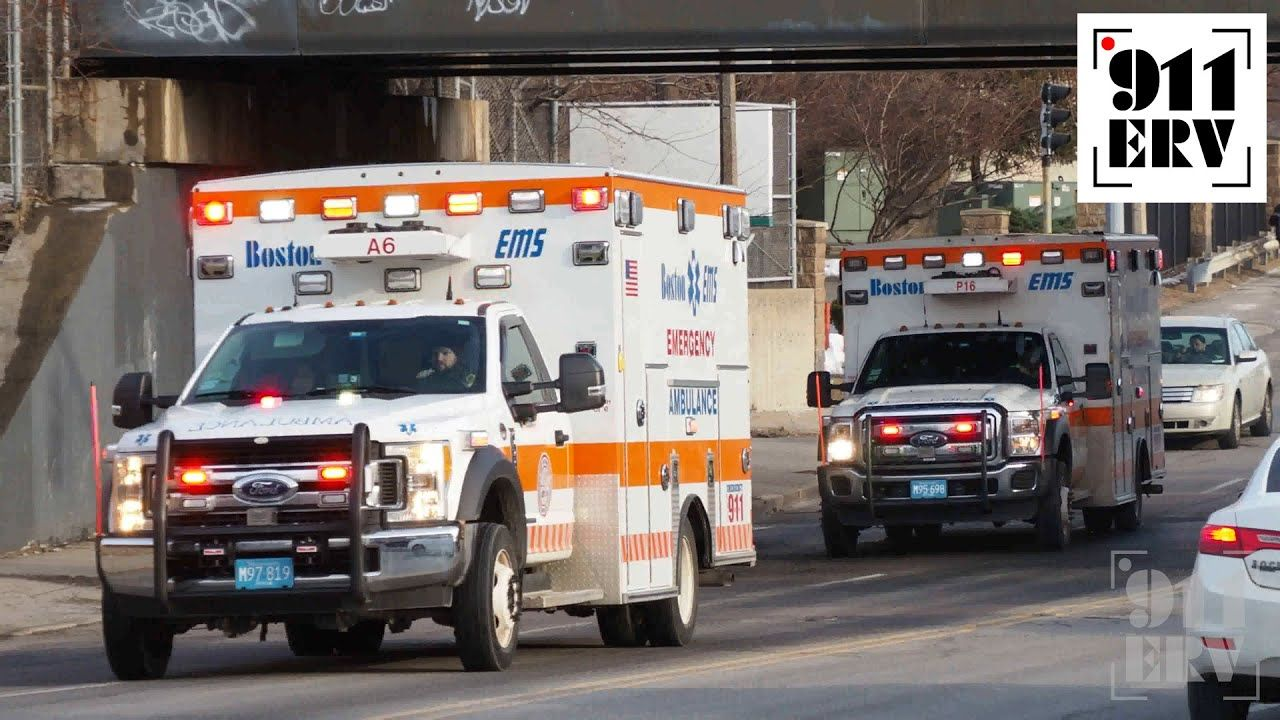 Boston Ems A6 And P16 Responding In 2020 Boston Ems Emergency Medical Services Ems