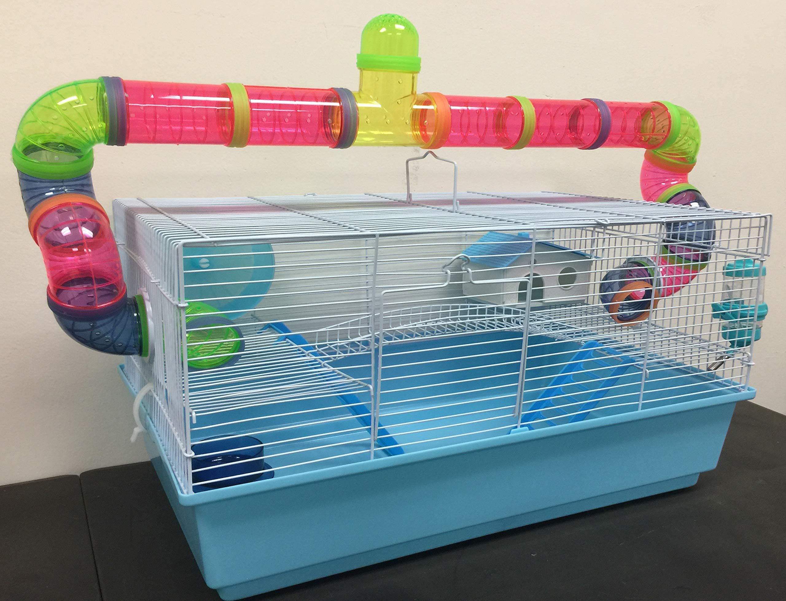 New Large Habitat Hamster Rodent Gerbil Mouse Mice Cage Long