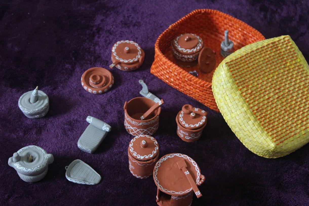 Asian Kitchen Set Miniatures Polymer Clay Dolls Pinterest