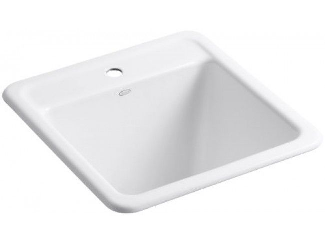 Kohler Park Falls Self Rimming Sink With One Hole Faucet Drilling, White