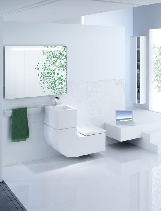 Eco Friendly And Space Saving Toilet And Sink Combo Compact
