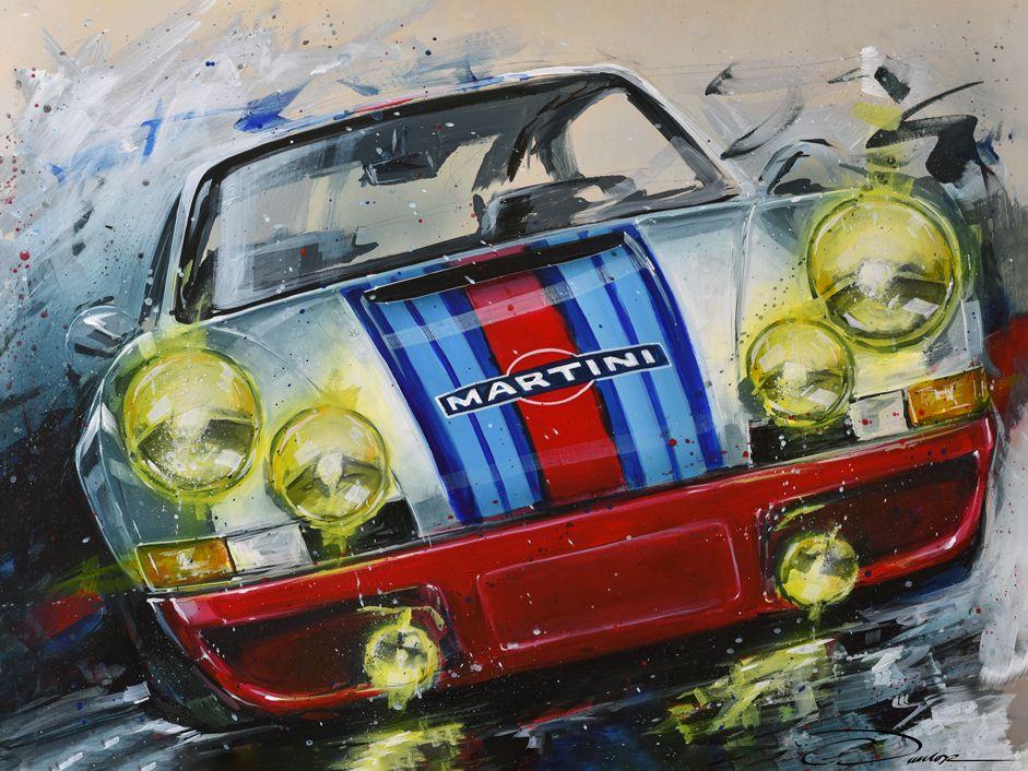 Martini Porsche In 2021 Automotive Artwork Original Prints Porsche