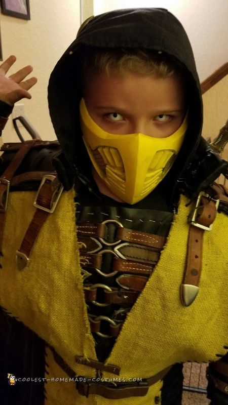 cool homemade scorpion mortal kombat halloween costume