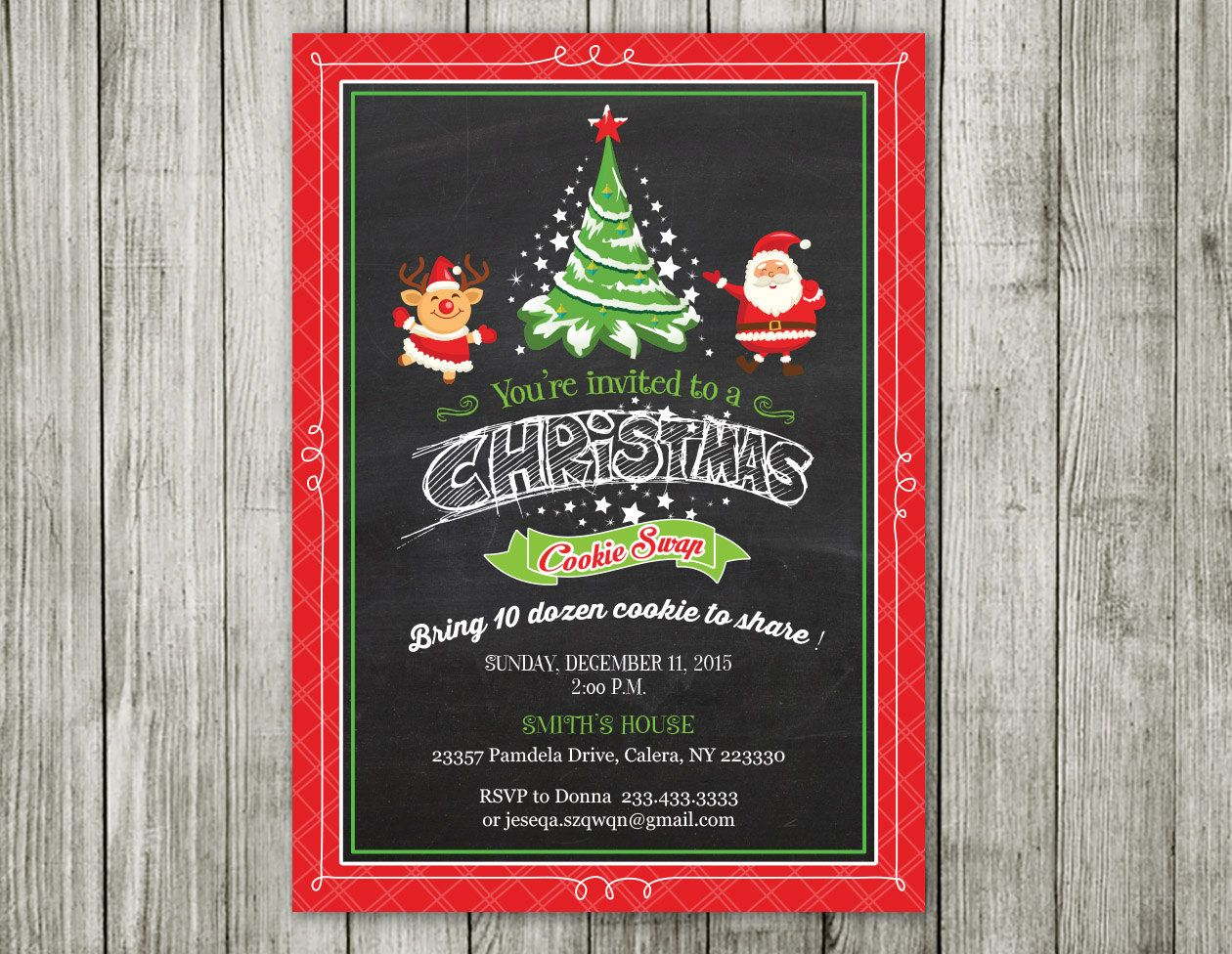 free ecard christmas party invitations%0A Christmas Invitation  Christmas Party Invitation  Christmas Invite   Printable Christmas Invitation  santa invitation