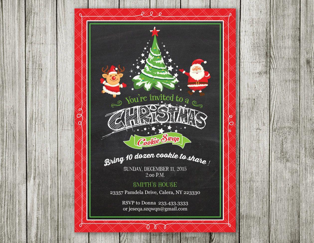 Christmas Invitation Christmas Party Invitation Christmas Invite