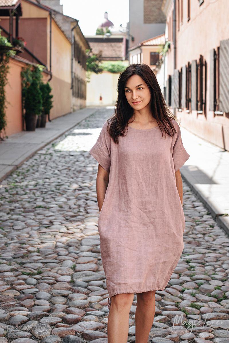 Loose Fit Linen Dress Summer Linen Dresses Summer Dresses Linen Dress [ 1200 x 800 Pixel ]