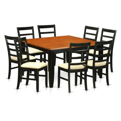 East West Furniture Parfait 9 Piece Square Dining Set With