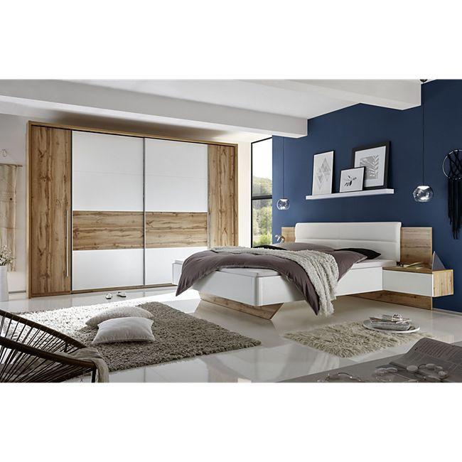 Schlafzimmer mit Bett ( 180 x 200 cm ) und Kleiderschrank