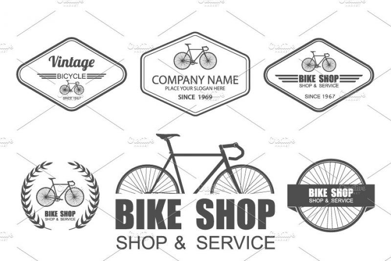 21 Best Bicycle Logo Designs And Templates Inspiration Logo Set Logo Design Set Shop Logo Design