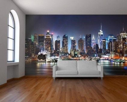 City view wallpaper mural by watts london