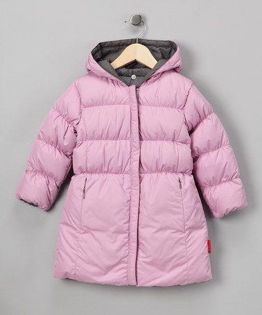 Look at this #zulilyfind! Pink & Graphite Reversible Long Puffer Coat - Toddler & Girls #zulilyfinds