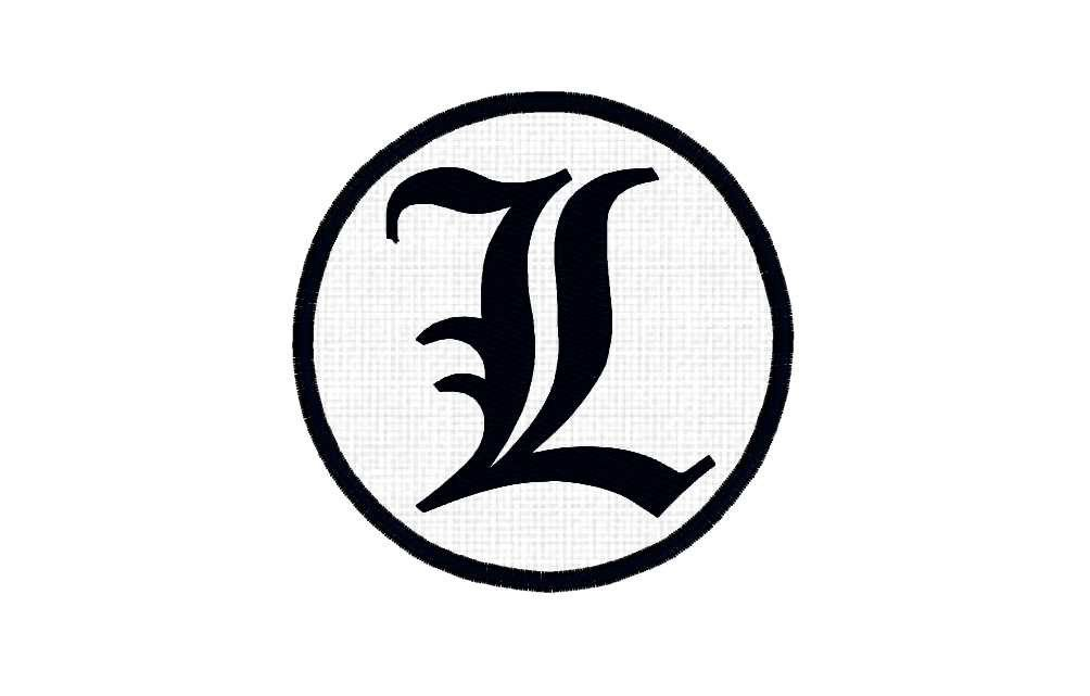 anime patch l from death note letter symbol free shipping by